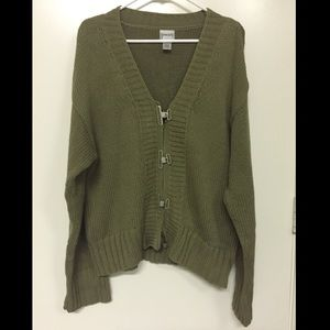 Chico's Metal Clasp Oversized Cardigan Sweater